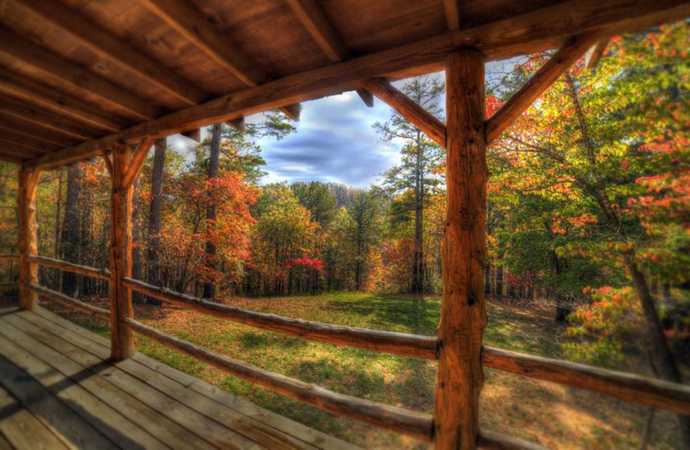 autumn view from cabin